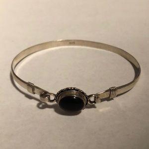 Jewelry - Black Onyx Silver 925 Bracket Fair Trade Nepal New